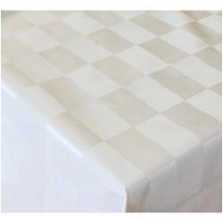 Ubrus PVC Mirella M-072A - bílý/ Pearl white, role 20 m