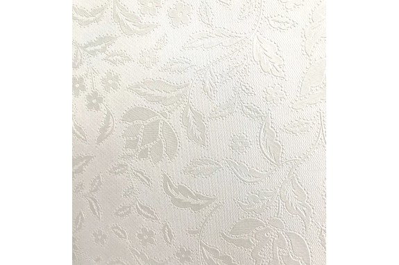 Ubrus PVC Mirella M-076A - bílý/ Pearl white, role 20 m