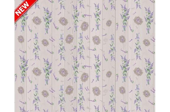 Ubrus PVC Mirella M-107A - Lavender, 20 m x 140 cm