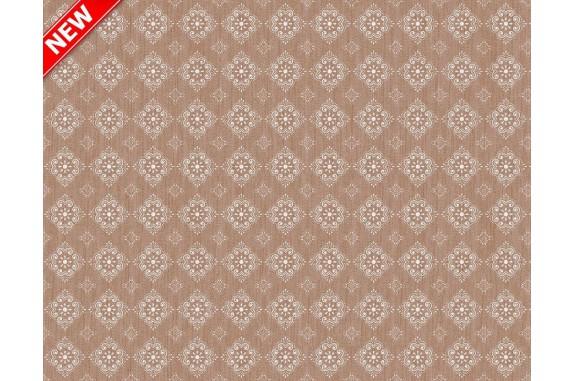 Ubrus PVC Mirella M-112A -  hnedý, 20 m