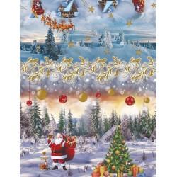 Ubrus PVC Mirella M-133A -  vánoční, role 20m