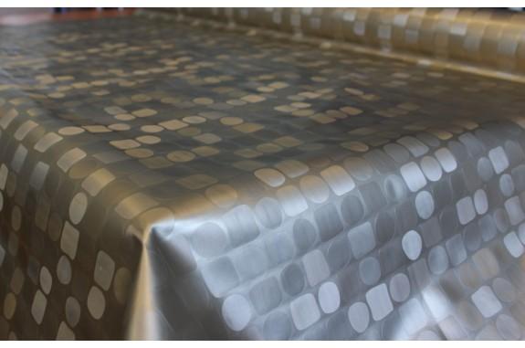 Ubrus PVC Geometrik bronz -2002 - kostičkovaný, role 140cmx20m