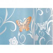 Hotová oblouková žakárová záclona Motýl oranžový/ vzor 7514, 180x320cm