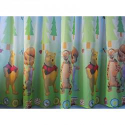 Hotová voálová dětská záclona  Winnie&Tigger, 180x320cm