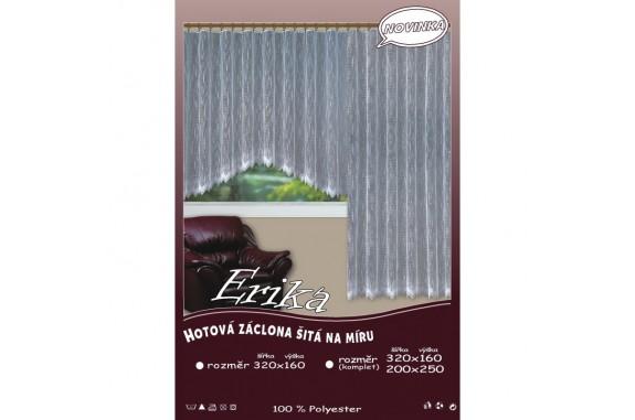 Hotová žakárová záclona Erika /Okno+balkon/ vzor 146 + dárek