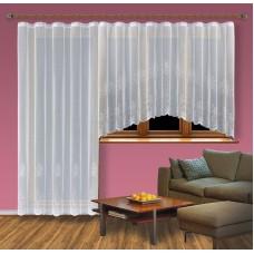 Hotová žakárová záclona Viktoria /Okno+balkon/ vzor 2211