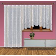 Hotová žakárová záclona Viktoria /Okno+balkon/ vzor 8190