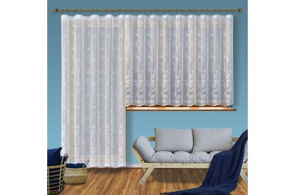 Hotová žakárová záclona Viktoria /Okno+balkon/ vzor 8190-2