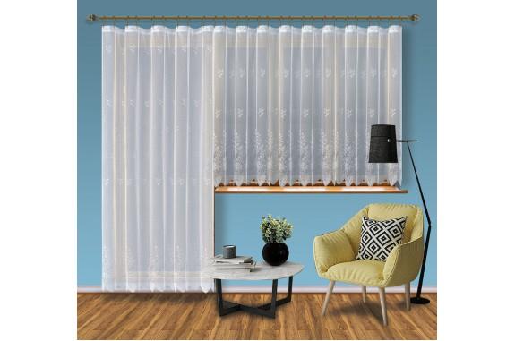 Hotová žakárová záclona Viktoria /Okno+balkon/ vzor 2072-2