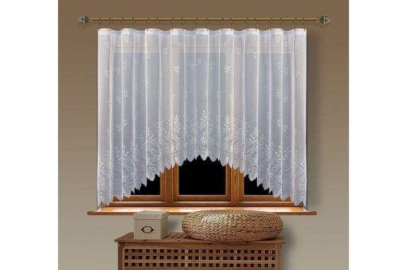 Hotová oblouková žakárová záclona  Viktoria/ vzor 2072, 160x350cm