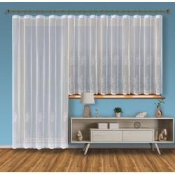 Hotová žakárová záclona Viktoria /Okno+balkon/ vzor 2211-2