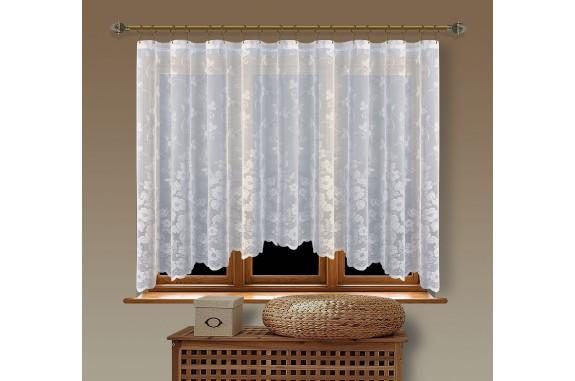 Hotová oblouková žakárová záclona  Viktoria/ vzor 8190, 160x350cm