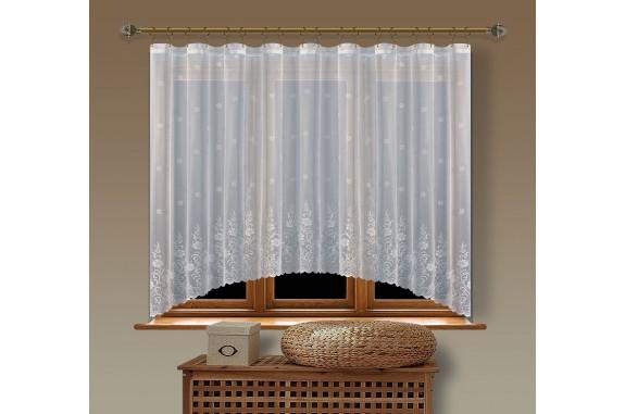 Hotová oblouková žakárová záclona  Viktoria/ vzor 8227, 160x350cm