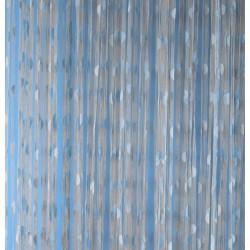 Provázková záclona Ambiance -18-modrá, výška 240 cm