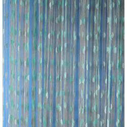 Provázková záclona Ambiance -18-tyrkysová, výška 240 cm
