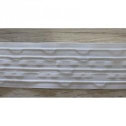 Řasící páska bílá - 60 mm, metráž