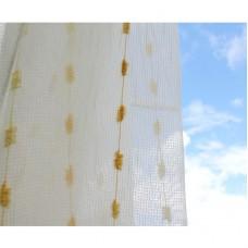 Voálová záclona smetanová 9723-V2, výška 160cm, metráž