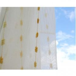 Voálová záclona smetanová 9723-V2, výška 180cm, metráž