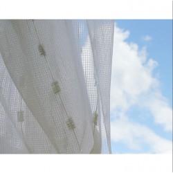 Voálová záclona smetanová 9723-V1, výška 250cm, metráž