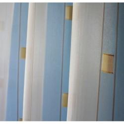 Voálová záclona N0166-04 světle žlutá/ hnědá, výška 250cm, metráž