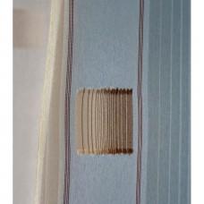 Voálová záclona N0166-06 světle béžová/ hnědá, výška 250cm, metráž