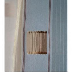 Voálová záclona N0166-06 světle béžová/ hnědá, výška 180cm, metráž