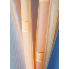 Voálová záclona N0167-07 světle žlutá/ meruňková, výška 160cm, metráž