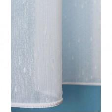 Voálová záclona bílá Rain, výška 160cm, metráž