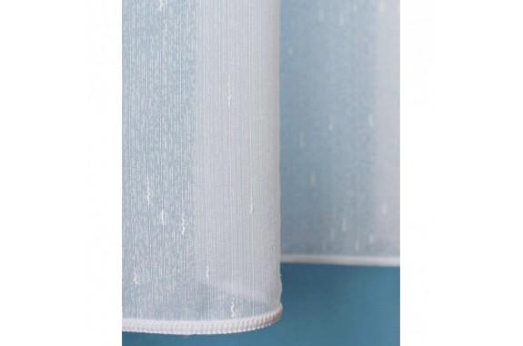 Voálová záclona bílá N040 - Rain, výška 160cm, metráž