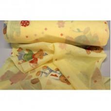 Dětská záclona  Medvídci -  žlutá, metráž