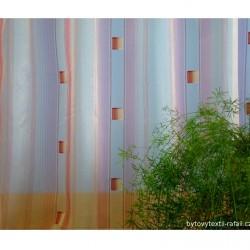 Voálová záclona N0166-09- světle žlutá/ vínová, výška 160cm, metráž