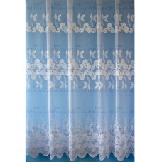 Záclona žakárová 15193 bílá, výška 250 cm, metráž