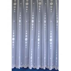 Záclona žakárová 15260 bílá, výška 250 cm, metráž