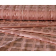 Záclona žakárová mřížka-  3061 /světle lososová, metráž