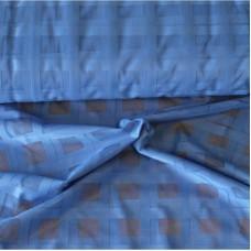 Záclona žakárová mřížka -  3061 /modrá , metráž