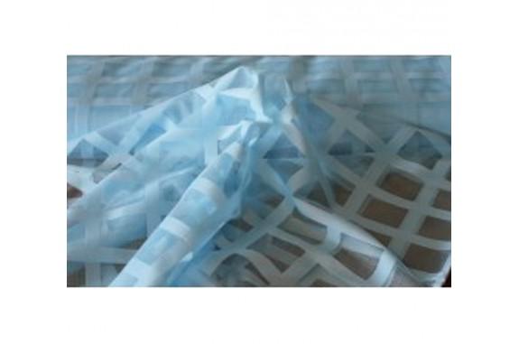 Záclona žakárová mřížka -  3061 /světle modrá , metráž