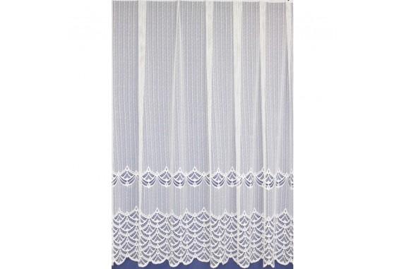 Záclona žakárová 313 bílá, výška 250 cm, metráž