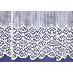 Záclona žakárová 313-bílá, výška 120 cm, metráž