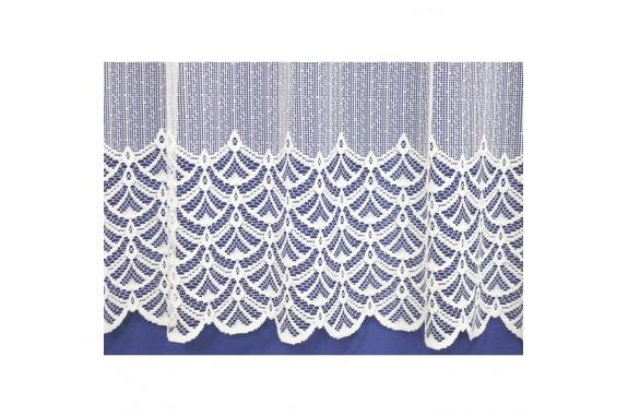Záclona žakárová 313-bílá, výška 140 cm, metráž