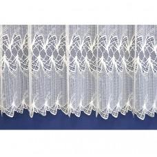 Záclona žakárová 319 bílá, výška 180 cm, metráž