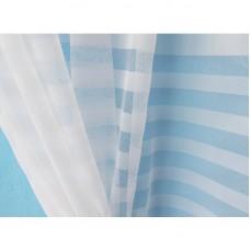 Záclona žakárová R-166 -bílá, výška 250 cm, metráž