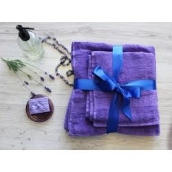 Dárkový set Osuška+ručnik+ mýdlo - Levandule