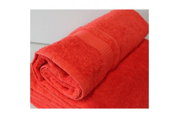 Osuška Froté - červená, 70x140 cm+ mýdlo