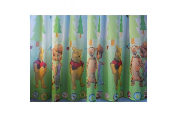 Hotová dětská záclona  Winnie&Tigger, 180x320cm