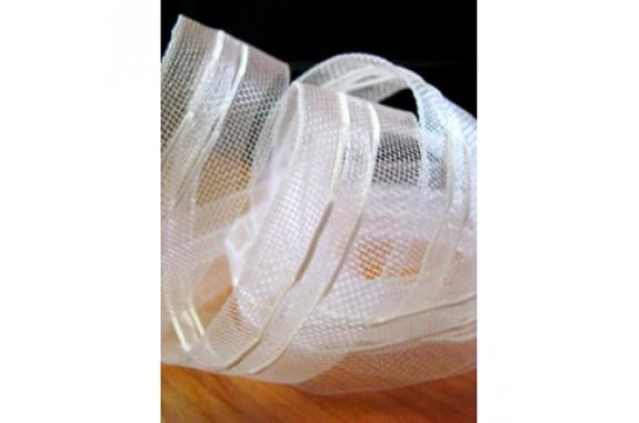 Řasící páska průhledná- 25 mm, metráž