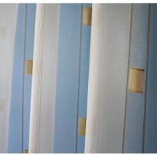 Voálová záclona N0166-04 světle žlutá/ hnědá, výška 160cm, metráž