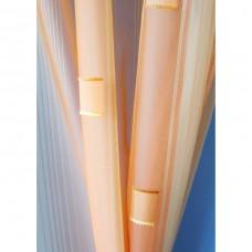 Voálová záclona N0167-07 světle žlutá/ meruňková, výška 180cm, metráž