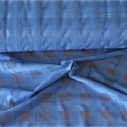 Záclona  mřížka -  3061 /modrá , metráž