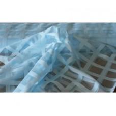 Záclona  mřížka -  3061 /světle modrá , metráž