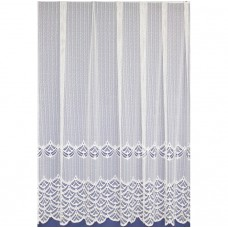 Záclona  313 bílá, výška 180 cm, metráž